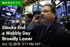 Stocks End a Wobbly Day Broadly Lower