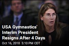 USA Gymnastics Loses Its Leader ... Again