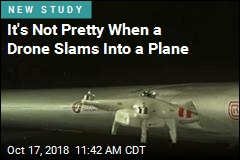 It's Not Pretty When a Drone Slams Into a Plane