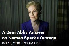 A Dear Abby Answer on Names Sparks Outrage