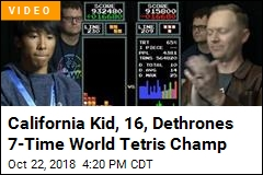 In Surprise Win, 16-Year-Old Dethrones World Tetris Champ