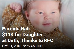 Big Gift for Baby Named After Colonel Sanders