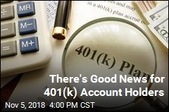 There's Good News for 401(k) Account Holders