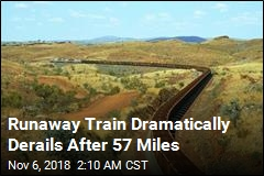 Dramatic Derailment Stops Runaway Train