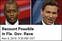 Recount Possible in Fla. Gov. Race