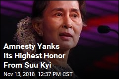 Amnesty Yanks Its Highest Honor From Suu Kyi
