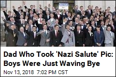 Dad Who Took 'Nazi Salute' Pic: Boys Were Just Waving Bye
