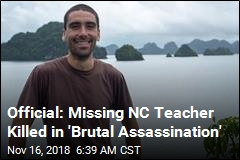 Official: Mexican Cartel Figure Killed Missing NC Teacher