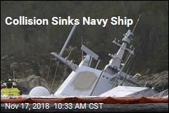 Oil Tanker Sinks Navy Ship