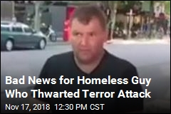 Homeless Guy Who Hit Terrorist Is Charged With Theft