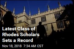 Latest Class of Rhodes Scholars Sets a Record