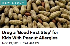 Drug a 'Good First Step' for Kids With Peanut Allergies