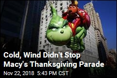 Balloons Fly Despite Cold at Macy's Parade