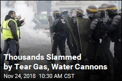 Protesters Slammed With Tear Gas, Water Cannons
