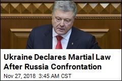 Kremlin Warns Ukraine After Martial Law Declared