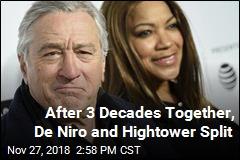 Robert De Niro, Grace Hightower Split