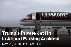 Trump's Private Jet Hit in Airport Parking Accident