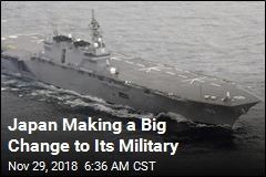 Japan Making a Big Change to Its Military
