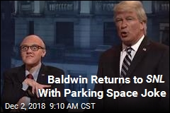 Baldwin Returns to SNL With Parking Space Joke