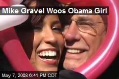 Mike Gravel Woos Obama Girl