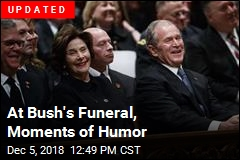 At Bush's Funeral, Moments of Humor