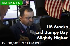 US Stocks End Bumpy Day Slightly Higher