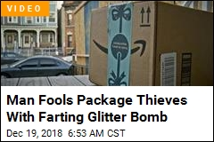 Man Fools Package Thieves With Farting Glitter Bomb