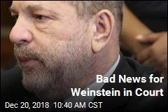 Bad News for Weinstein in Court
