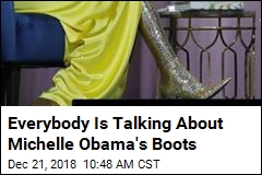 Everybody Is Talking About Michelle Obama's Boots