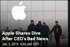 Apple Shares Dive After CEO's Bad News