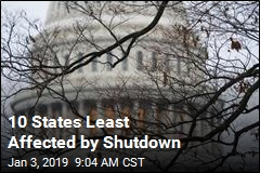 10 States Most, Least Affected by Shutdown