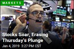 Stocks Soar, Erasing Thursday's Plunge