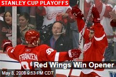 Red Wings Win Opener