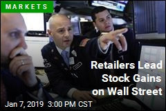 Retailers Lead Stock Gains on Wall Street