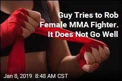 Man Tries to Rob Female MMA Fighter
