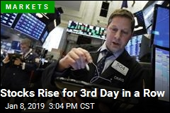 Stocks Rise for 3rd Day in a Row