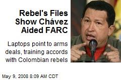 Rebel's Files Show Chávez Aided FARC