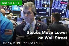 Stocks Move Lower on Wall Street