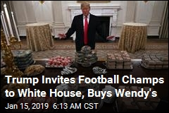 Trump Buys Fast Food Buffet for Clemson Tigers
