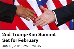 2nd Trump-Kim Summit Set for February