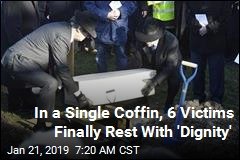 In a Single Coffin, 6 Victims Finally Rest With 'Dignity'