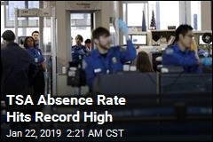 TSA Absence Rate Hits Record High