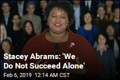 Abrams: 'We Do Not Succeed Alone'