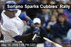 Soriano Sparks Cubbies' Rally