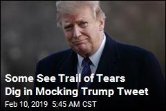Some See Trail of Tears Dig in Mocking Trump Tweet