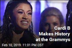 Cardi B Makes History at the Grammys