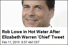 Rob Lowe Zings Warren as 'Commander in 'Chief''