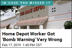 Home Depot Worker Got 'Bomb Warning' Very Wrong