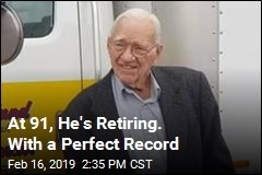 At 91, He's Retiring. With a Perfect Record