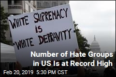 Number of Hate Groups in US Is at Record High